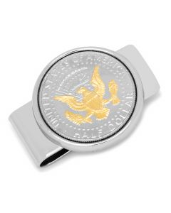 Silvertone Presidential Seal Gold-Layered Money Clip