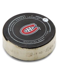 Montreal Canadiens Game Used Puck Bottle Opener