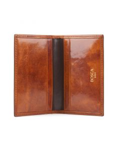 Amber Old Leather Classic Calling Card Case