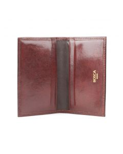 Dark Brown Old Leather Classic Calling Card Case