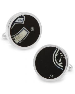 Vancouver Canucks Game Used Puck Round Cufflinks