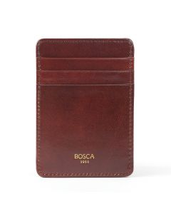 Dark Brown Old Leather Classic Front Pocket Wallet