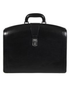 Black Old Leather Classic Partners Brief