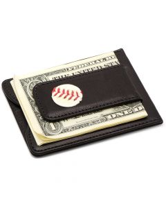 St. Louis Cardinals Game Used Baseball Money Clip Wallet