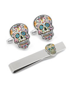 Day of the Dead Cufflinks and Tie Bar