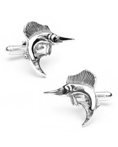 Sterling Sailfish Cufflinks