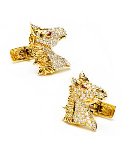 Diamond Stallion Cufflinks