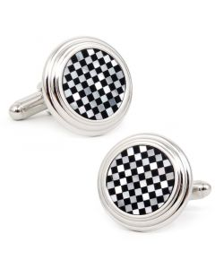 Onyx and MOP Checker Step Cufflinks