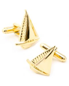 Gold Sailboat Cufflinks