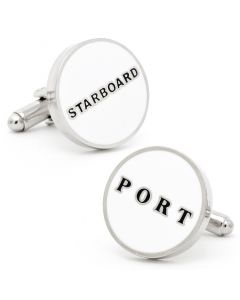 Starboard and Port Cufflinks