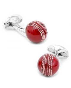 Red Cricket Ball Cufflinks