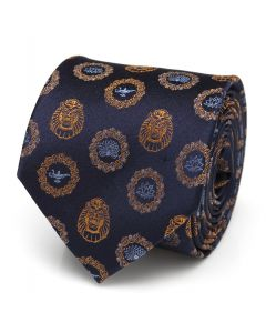 Lamp and Cave of Wonders Scattered Blue Men's Tie