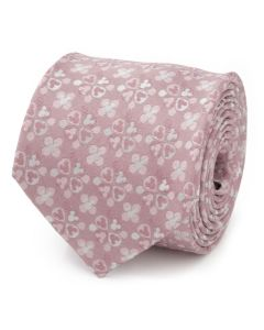 Mickey Mouse Silhouette Blossom Pink Men's Tie