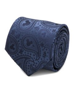 Mickey Mouse Navy Paisley Mens Tie