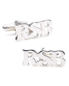 Sterling Personalized Cutout Initial Cufflinks