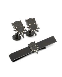Black Panther Cufflinks and Tie Bar Gift Set