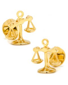 Moving Parts Gold Scales of Justice Cufflinks