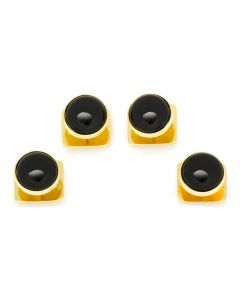 Gold and Onyx Studs