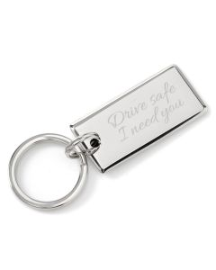 Drive Safe Rectangle Key Chain