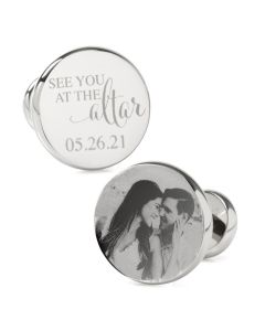 See You at the Altar Custom Photo Cufflinks