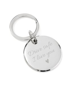 Drive Safe Round Key Chain