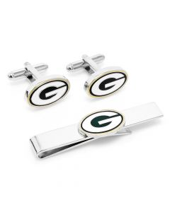 Green Bay Packers Cufflinks and Tie Bar Gift Set