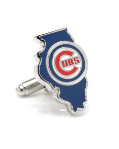 Chicago Cubs State Shaped Cufflinks
