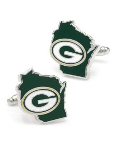 Green Bay Packers State Shaped Cufflinks