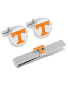 University of Tennessee Cufflinks and Tie Bar Gift Set