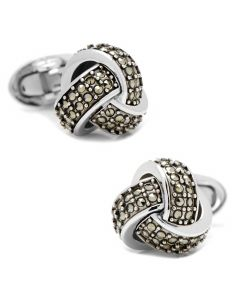 Classic Knot with Marcasite Pave Cufflinks
