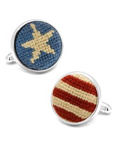 Stars and Stripes Needlepoint Cufflinks