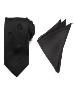 Darth Vader Black Necktie and Pocket Square Gift Set