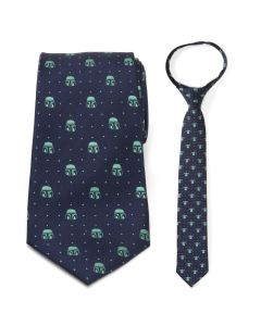 Father and Son Mando and The Child Zipper Necktie Gift Set