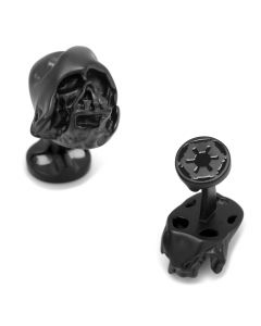 3D Melted Darth Vader Helmet Cufflinks