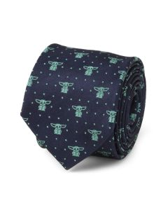 The Child Dotted Navy Boy's Tie