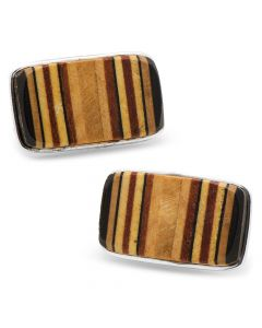 Tennis Racquet Handle Cross Section Cufflinks