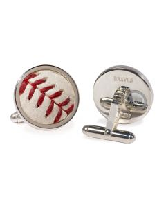 Atlanta Braves Game Used Baseball Cufflinks