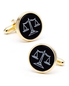 Onyx Scales of Justice Cufflinks