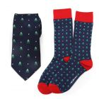 Holiday Tree Tie and Sock Gift Set